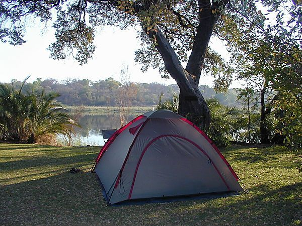 Camping By Okavango River, Namibia