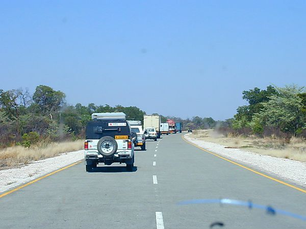 Convoy Through Caprivi Strip, Namibia