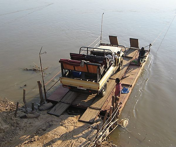Ferry Across River In South Luangwa National Park, Zambia
