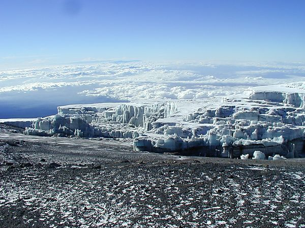 Glaciers At Top Of Kilimanjaro, Tanzania