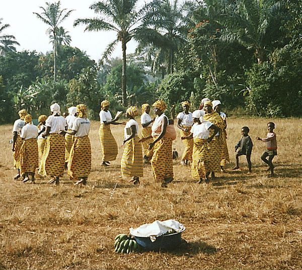 Ladies Dancing At Fon Festival