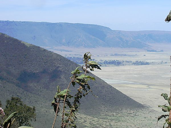 View along the rim of the Ngorongoro Crater, Tanzania