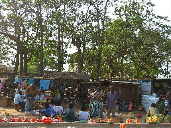Roadside Market Scene