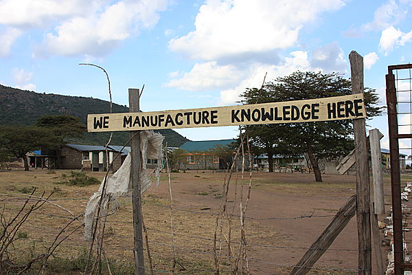 Sign outside school in Kenya