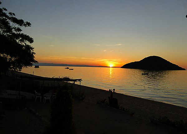 Sunset on Lake Malawi