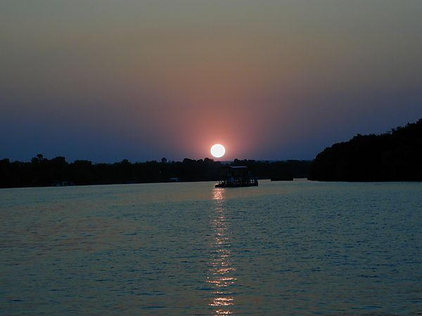Sunset On Zambezi River, Zambia