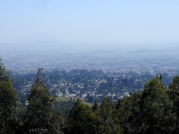 View Overlooking Addis Ababa, Ethiopia