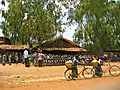 Bicycles Stand In Village