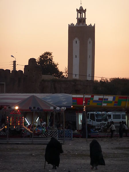 sunset over Taroudant asnd fun fair