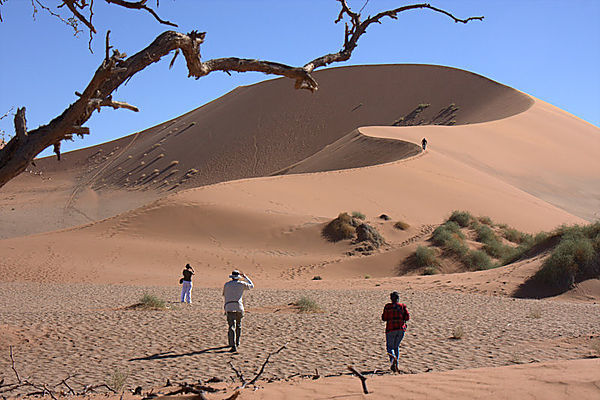 Getting Ready To Climb The Dune At Sossusvlei