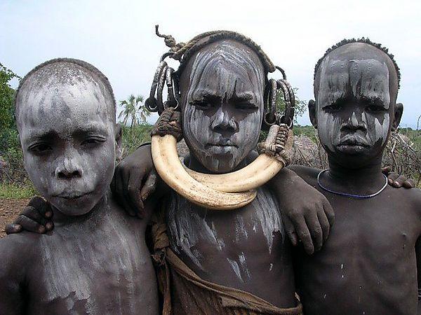 Mursi Boys Photo Ethiopia Africa