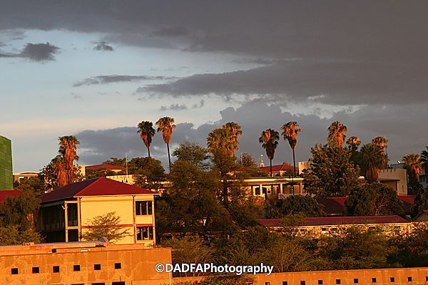 Sunset In Windhoek, Late Summer.