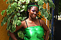 tanzanian woman ready to danse