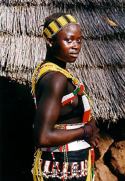 Bassari girl in Ethiolo photo Ethiolo Senegal Africa