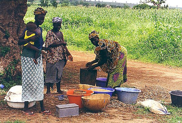 Women doing their daily chores