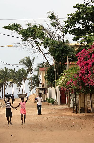 Towards the beach, Togo