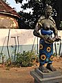 Statue outside the sacred Python temple, Ouidah, Benin