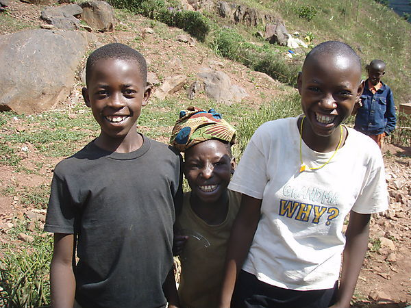 Girls In A Village Near Kirehe Finishing Laundry