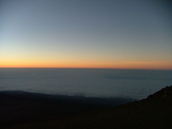 View Of Dawn Breaking From Mount Kilimanjaro