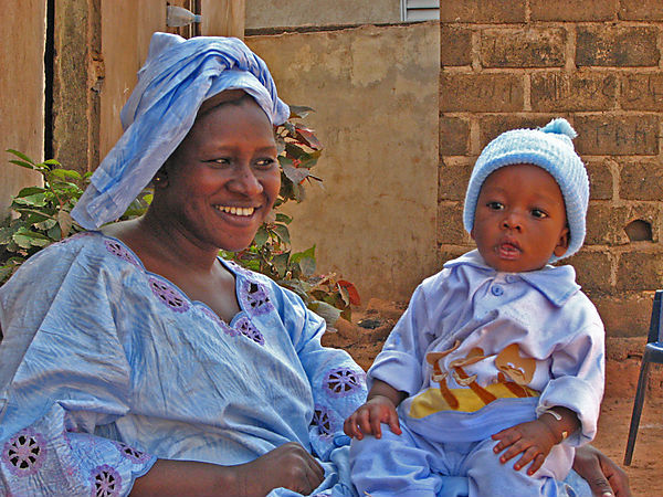 Mother And Child In Bamako.