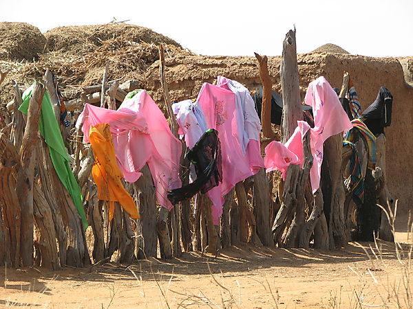 Veils Drying In The Wind.