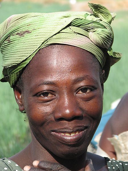 Woman At Co-op Farm In Sideradougou.