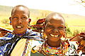 Gap-toothed Masai Women Souvenir Sellers.
