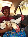 Marie-claire With 2 Travelling Companions In Gaoua.