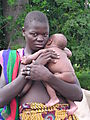 Young Girl And New-born In Tamberma Valley.