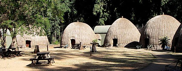 Bee-hive camp; Mlilwane,
