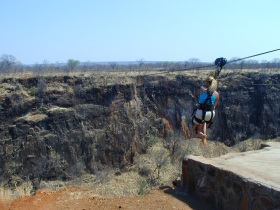 Flying Fox at Victoria Falls