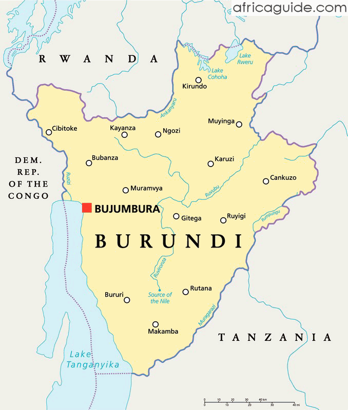burundi south africa map
