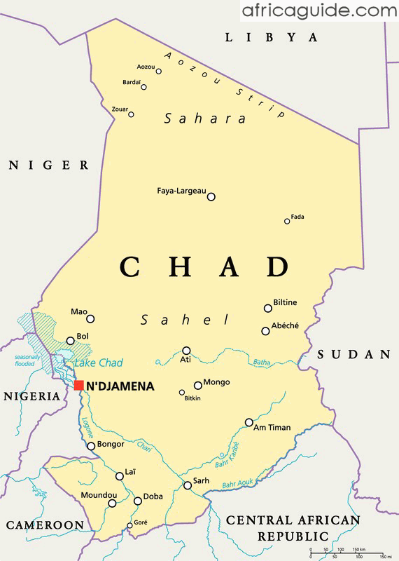 Chad Travel Guide And Country Information - Chad map