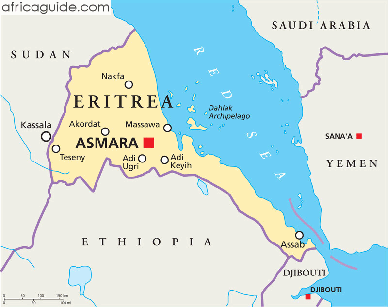 Eritrea guide eritrea map with capital asmara eritrea map with capital asmara click to zoom gumiabroncs