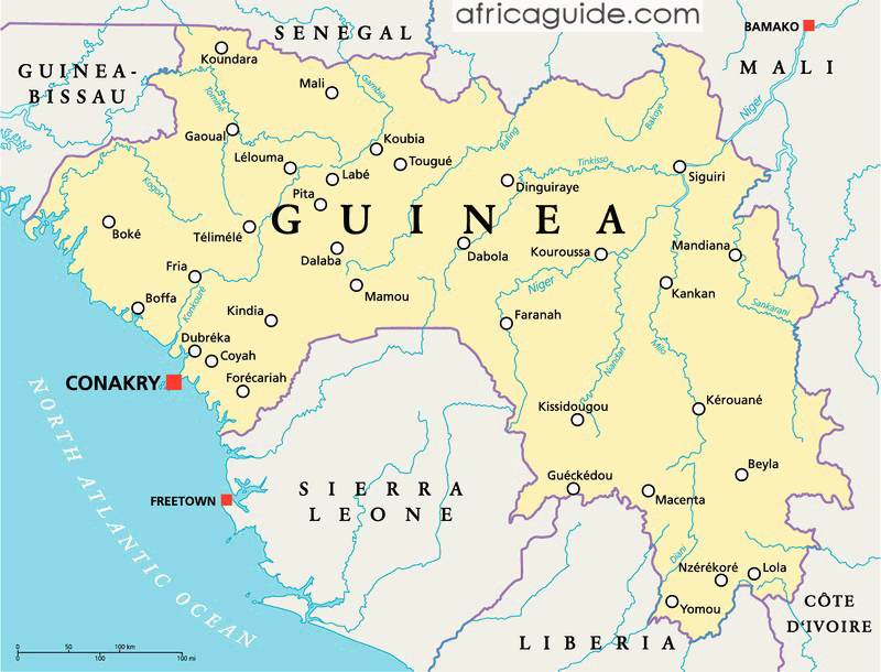 guinea south africa map