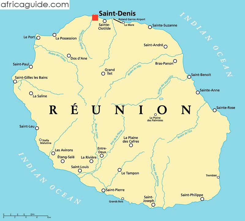 la reunion africa map