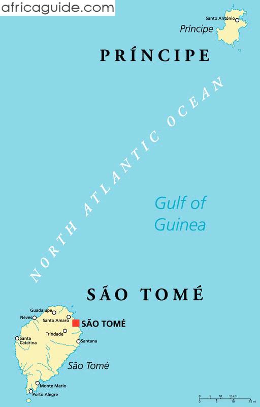 São Tomé And Principe Guide - Sao tome and principe map