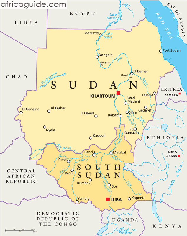 where is sudan located