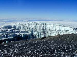 Glaciers on Summit Kilimanjaro