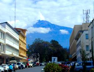 Mount Meru from Arusha Town