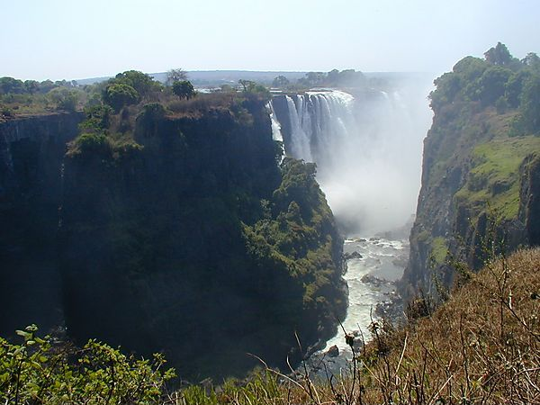 Victoria Falls From Zimbabwe Side In Low Season