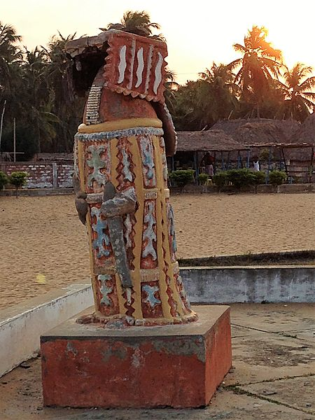 Statue of Egungun by the Gate of no return, Ouidah, Benin