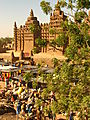 Djenné Mosque And Monday Morning Market.